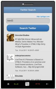 Twitter Search App