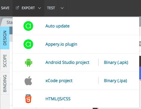 Apperyio_Export