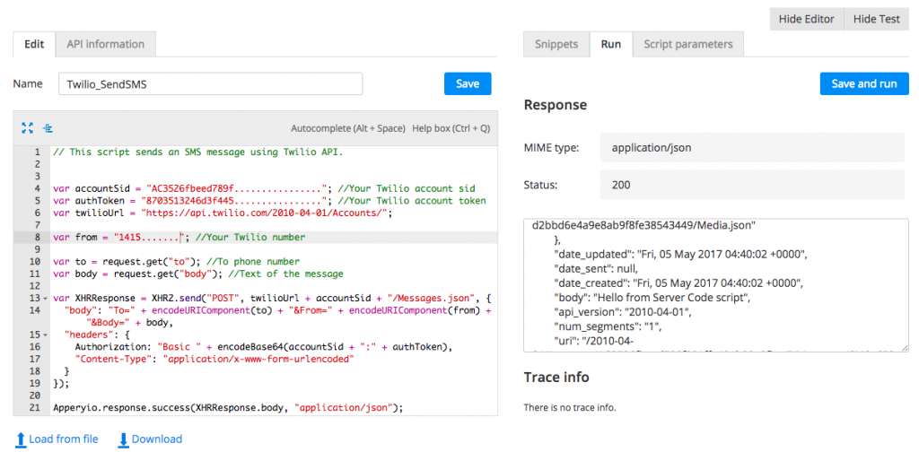 Testing Twilio SMS API